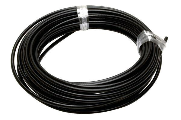 Cable Housing, 6mm OD Black 50' X Roll
