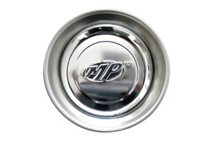 "Magnetic Parts Dish, 3"" Stainless Steel with MP Logo"