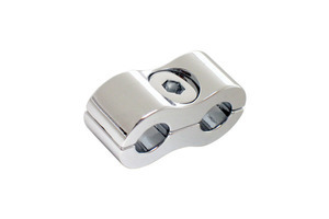 Throttle/Idle Cable Clamp, Chrome