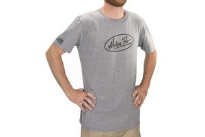 "T-Shirt, ""MP Oval"", Grey, Medium"