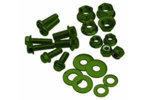 Bolt, Flange, M8XP1.25X25, Olive Green, Pk-10